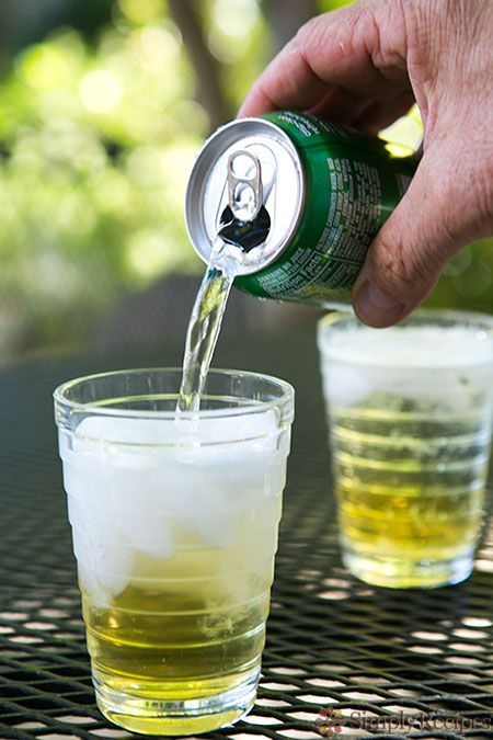 Panache - A French drink (1 part beer and 1 part 7-Up) on @Elise Bauer — Simply Recipes