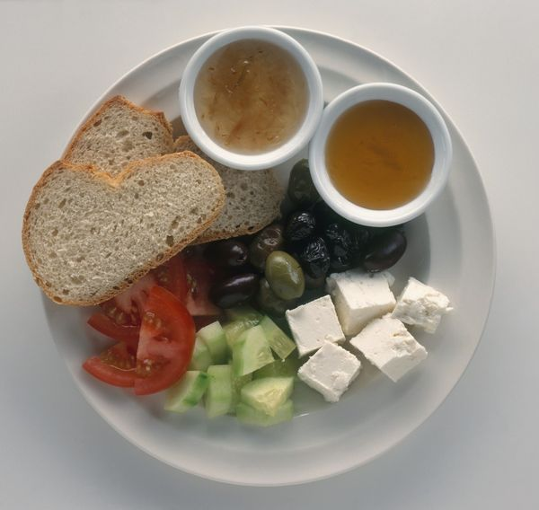Healthy Breakfasts From Around The World - Turkey - cucumbers, tomato slices, olives, cheese and sometimes boiled eggs.