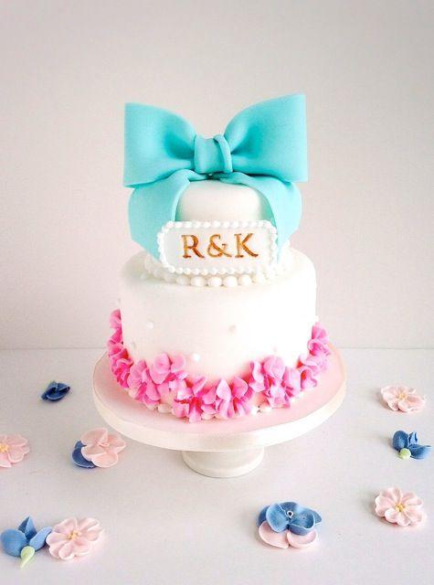 ミニリボン段ケーキ