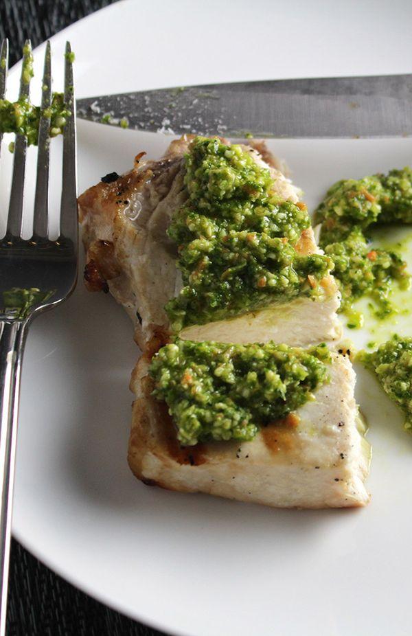 Grilled Swordfish with Kale Pesto recipe.