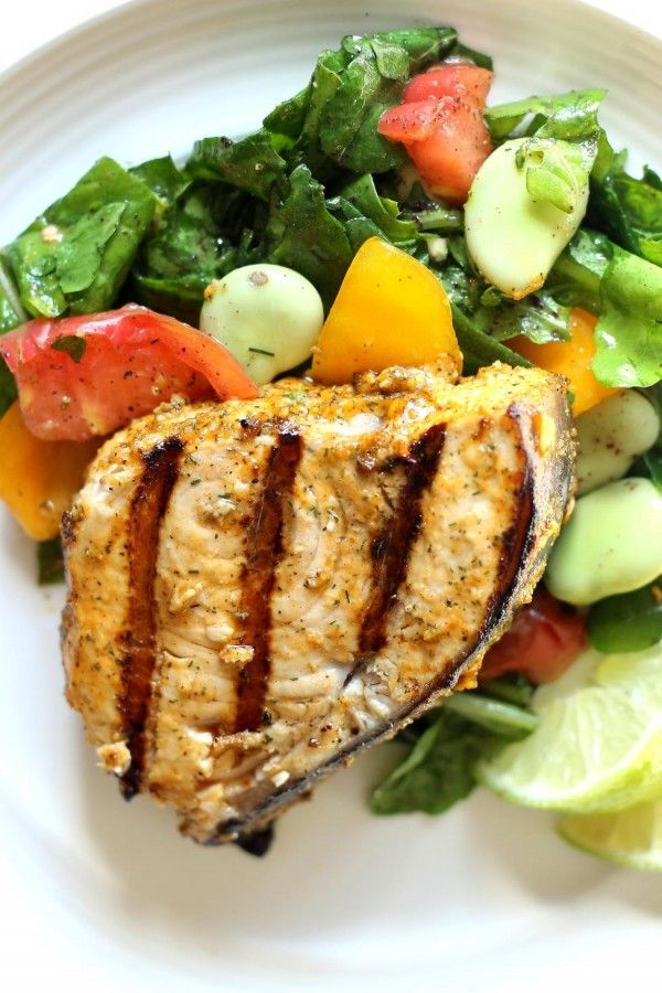 Easy swordfish recipe that utilizes a great Mediterranean rub with cumin, dill weed, fresh garlic cloves and more. Super quick to prepare. Delicious!