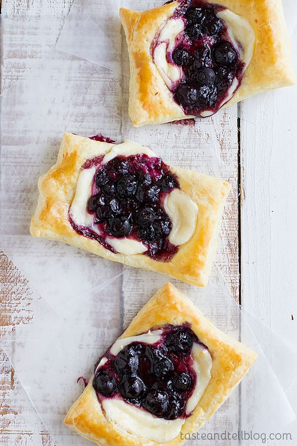 Easy Blueberry Cream Cheese Pastries