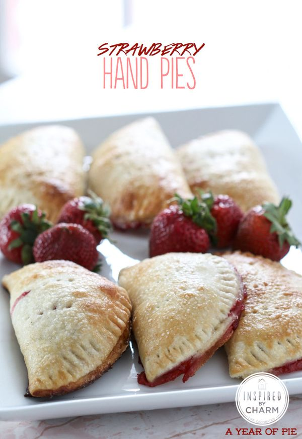 Strawberry Hand Pies // total perfection for brunch or outdoor parties, yum!!! via Inspired by Charm #appetizer #dessert