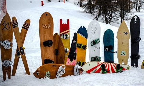 La tavola da snowboa