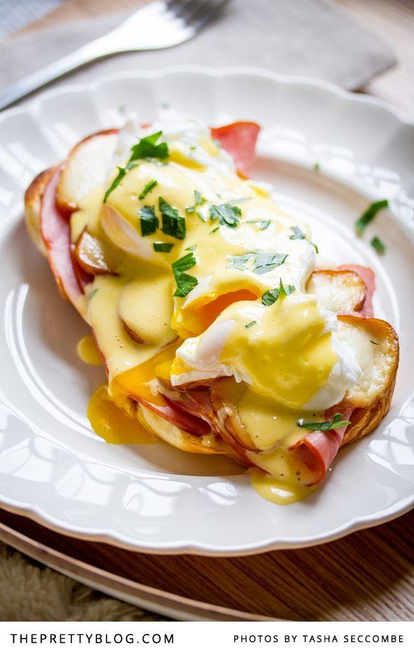 Eggs Benedict Royale. Yummy birthday breakfast