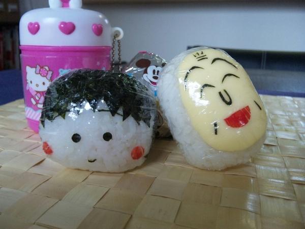 今日のキャラおにぎり:ちびまる子&友蔵(ともぞう)の画像 | るりすずブログ