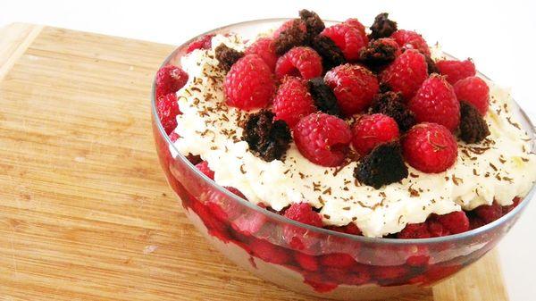 (日本語)Triple Chocolate Raspberry Trifle | トリプルチョコレートのラスベリートライフル
