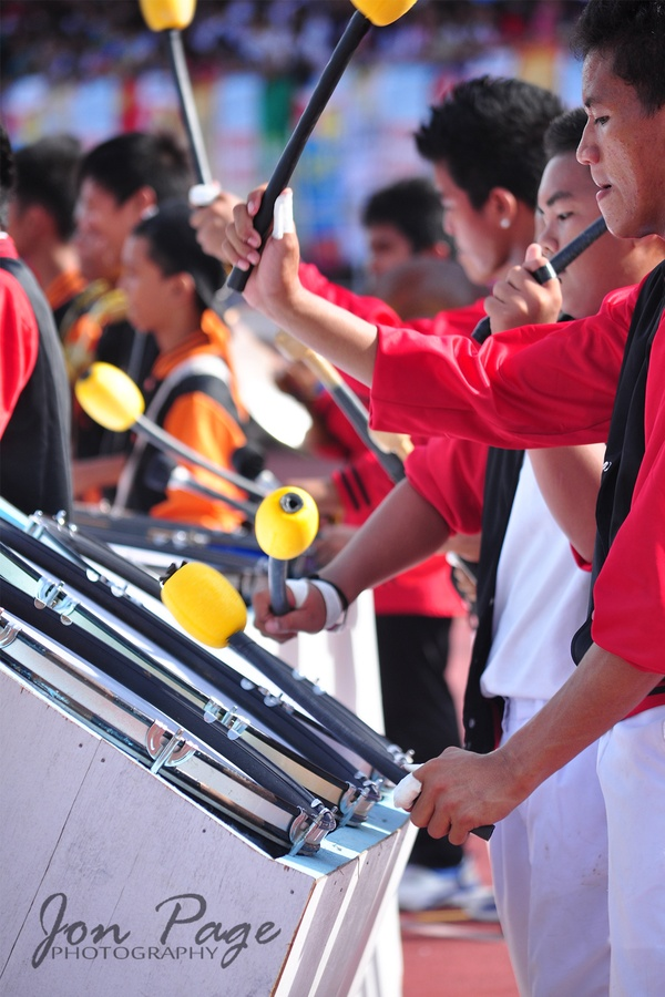 A rolling drum durin