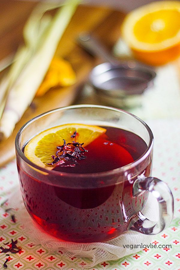 This lemongrass hibiscus tea recipe with orange peel & maple syrup is exceptionally beneficial for the immune system and as natural remedies for cold or flu