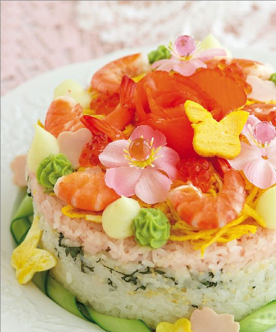 Sushi cake I want this for my birthday!!