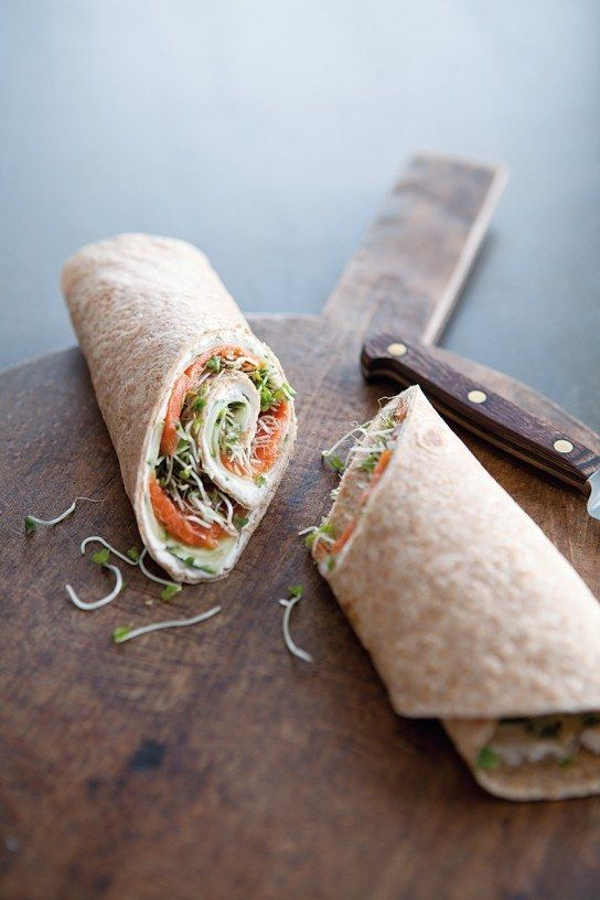 Smoked Salmon & Cucumber Wraps   27 Healthy On-The-Go Breakfasts Under 400 Calories