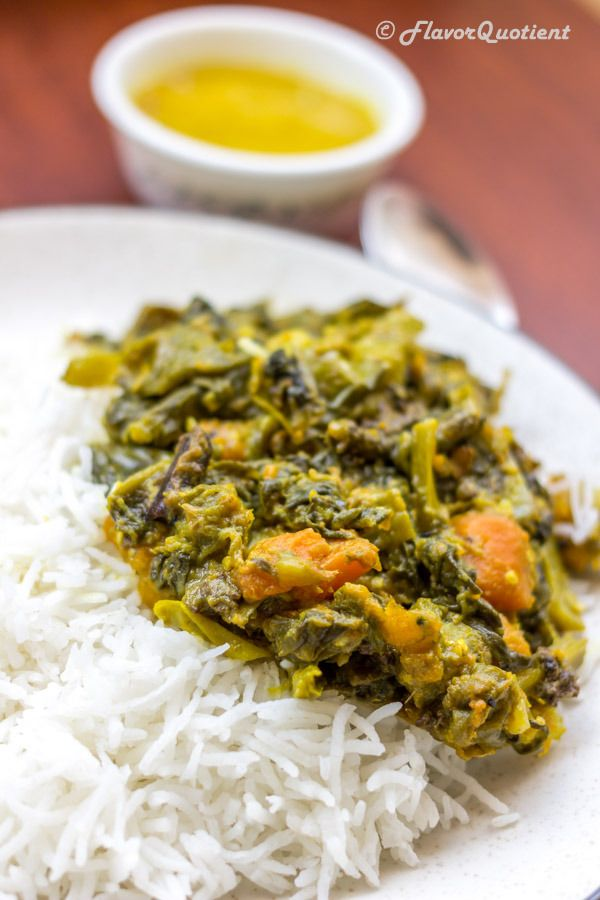 Malabar Spinach With Hilsa or Indian Shad Fish!