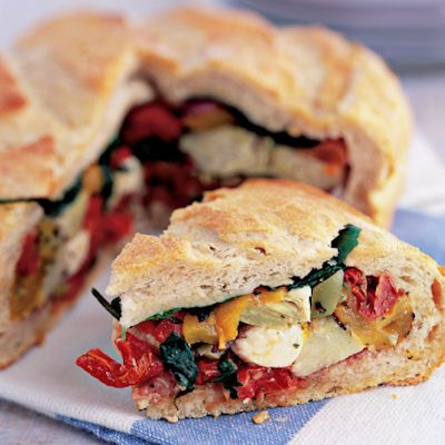 Deli Stuffed Pan Bagnat.