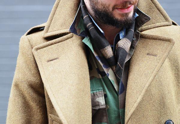 迷彩ジャケットの着こなしは海外スナップがお手本!