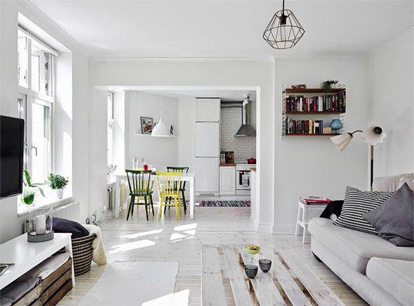 おしゃれな空間上手、コンパクトな北欧デザインアパートメント in スウェーデン