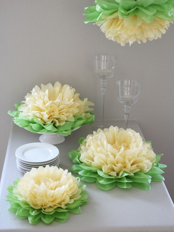 These Hanging Paper Flowers by Heart to Heart at Gilt are so pretty. Perfect for a baby shower or anywhere