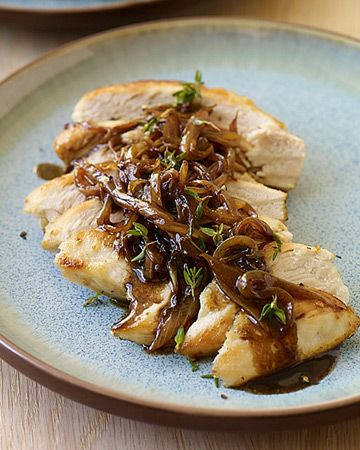 PointsPlus Chicken with Balsamic Vinegar, Sweet Onions, and Thyme Recipe 5 points+