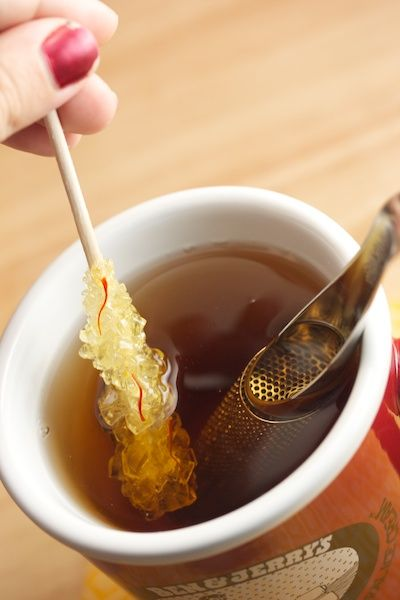 Tea with Persian Saffron Rock Candy! -tiny rock candy for teas!?! nice restaurants should jump on this band wagon! that would make things so special feeling-