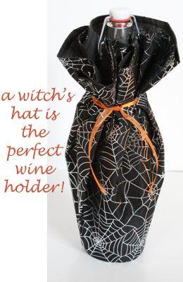 画像:ワインのラッピングに魔女の帽子がぴったり! - Weboo