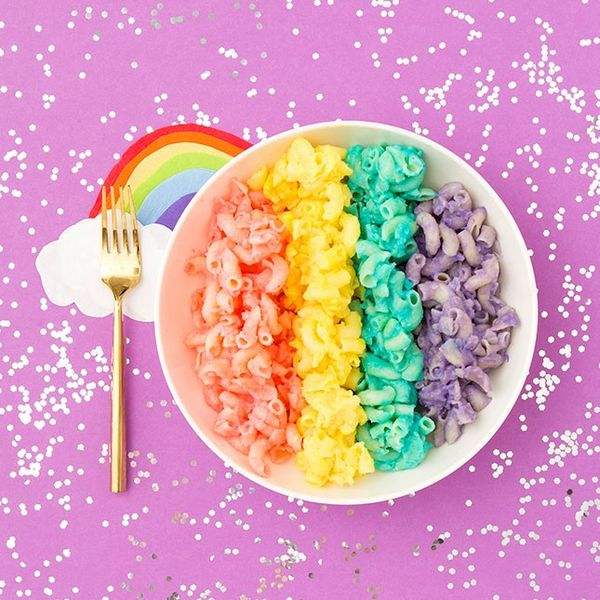 OMG This Homemade Rainbow Mac + Cheese Recipe Will Change Your Life | Brit + Co