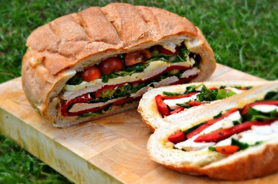 Turkey Pan Bagnat - Sandwich in a Loaf - Healthy, Tasty & Easy Recipes on a Budget - Gourmet Mum