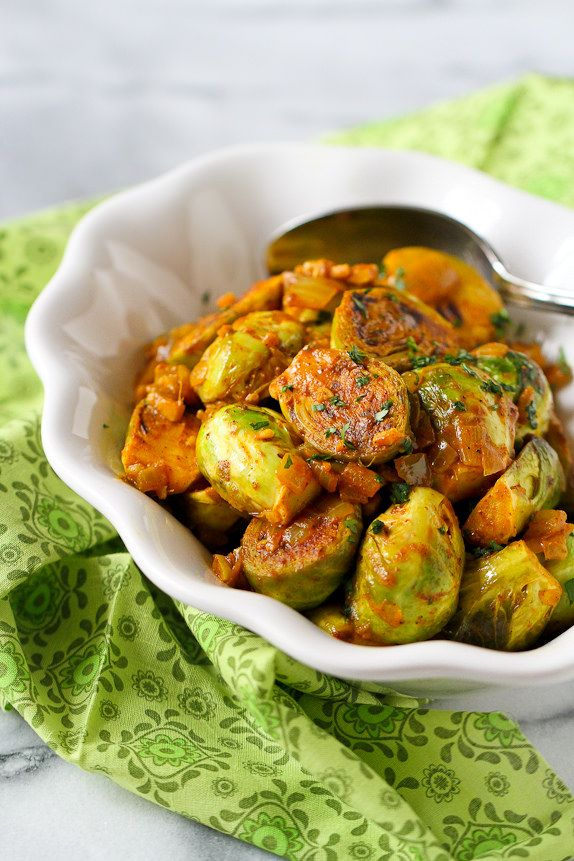 Curry Simmered Brussels Sprouts Recipe
