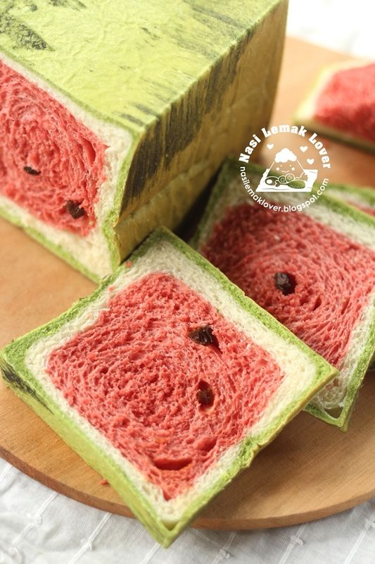 Nasi Lemak Lover: Watermelon Bread Loaf 西瓜土司