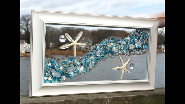 Use sea glass and epoxy to make stained glass window diy for Glass art projects