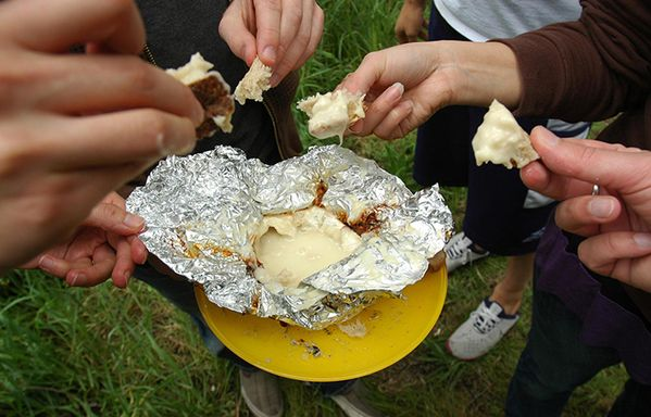 Camping Campfire Recipes Cheese Camembert Fondue