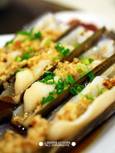 Garlic steamed razor clams _ Kitchen anecdotal