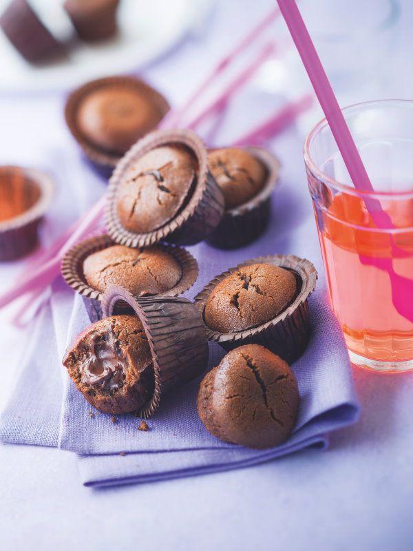 Mini moelleux au chocolat #Food #Chocolate