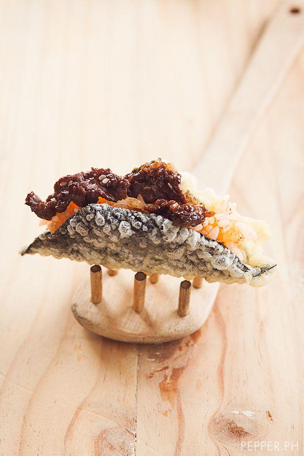 fried seaweed tacos