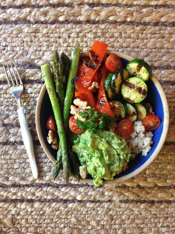 Mediterranean Spiced & Grilled Vegetable Rice Bowls with Avocado – Vegan, Gluten Free