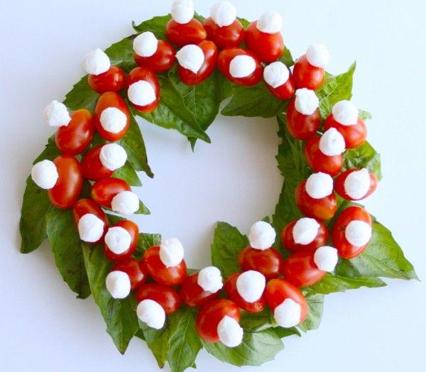 Edible Wreath! Caprese Christmas Wreath