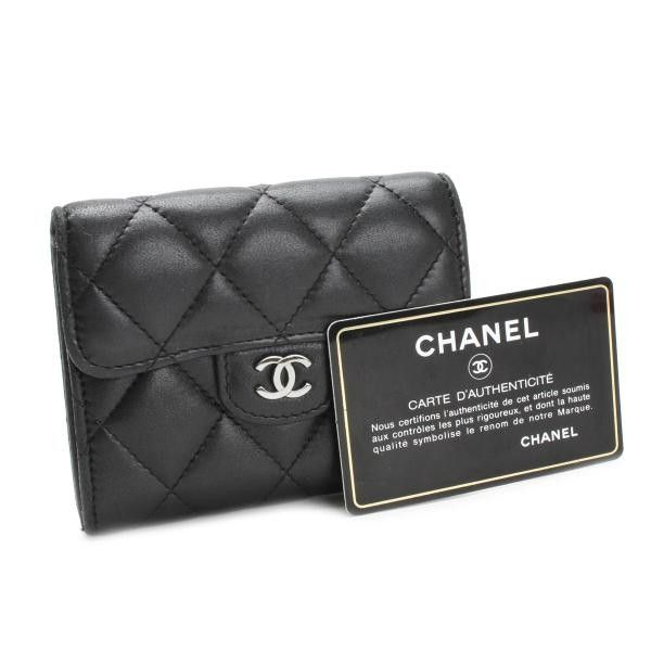 Luxury fasion resale store Rastro CHANEL Wallets Black Leather A31504