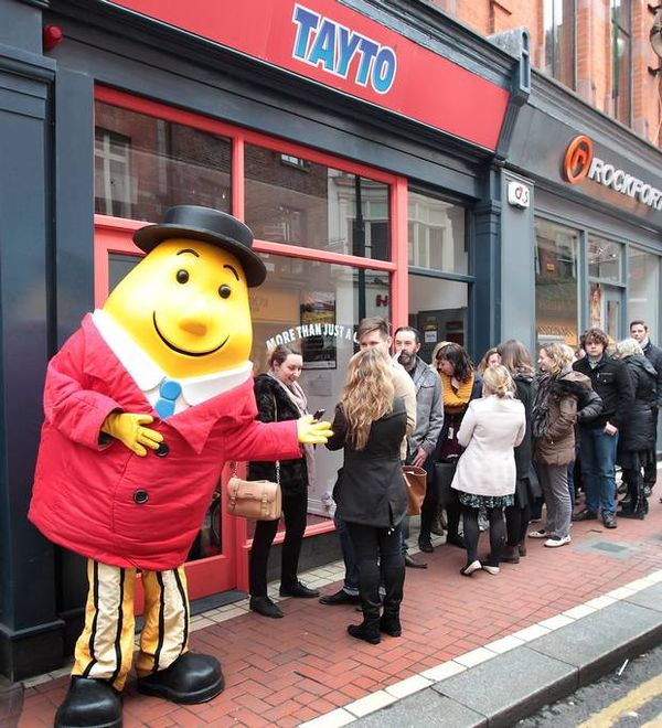 Tayto opened the door to Dublin's first crisp sandwich shop this afternoon with a pop-up dedicated to Ireland's favourite crisp