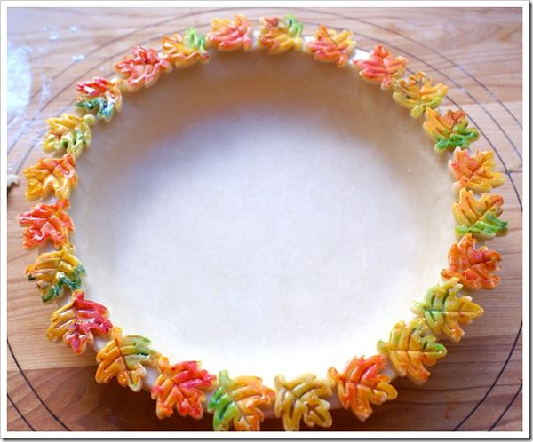 Painted Pie Crust Decorations