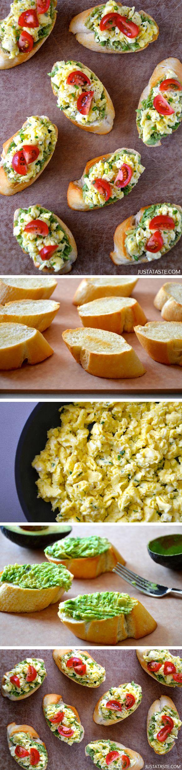 Quick and Easy Breakfast Bruschetta by justataste #Breakfast#Bruschetta #Easy
