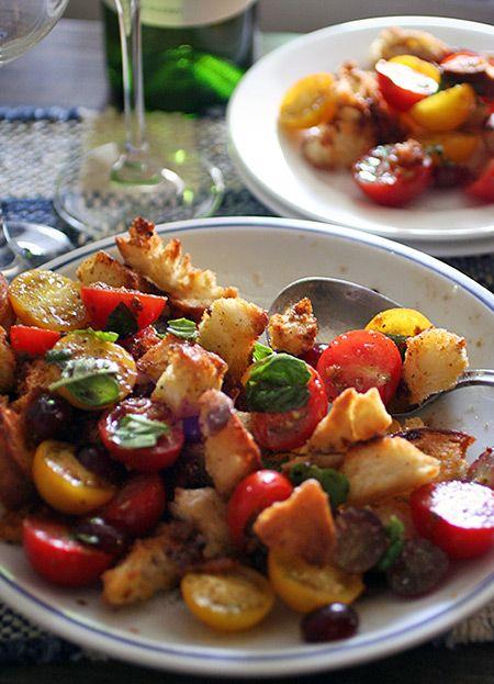 食べ応えあるクルトンとトマトのサラダ - ヒグッチーニ連載:メンズキッチンへようこそ Higucciniの週末もてなしランチ レシピブログ -料理ブログのレシピ満載!