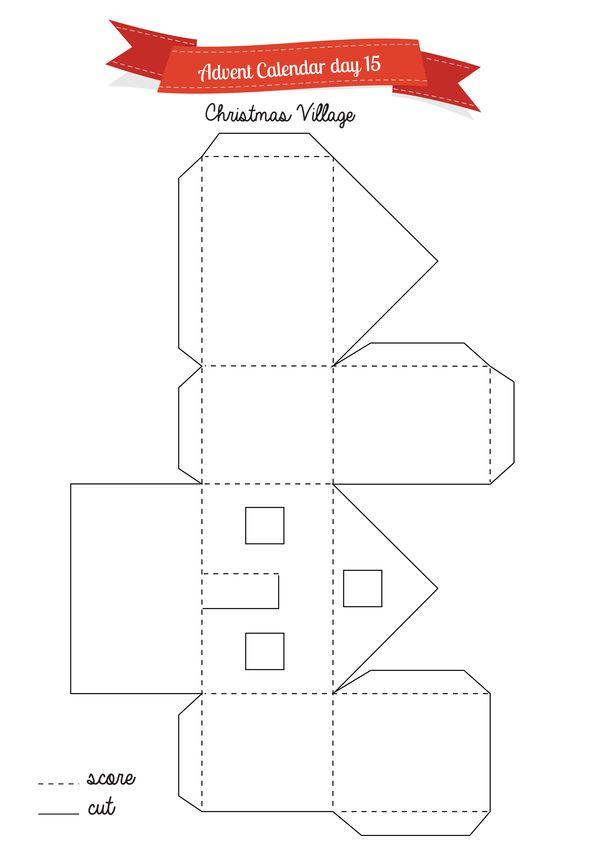 3 little houses for your advent calendar Advent calendars, House - faire un plan de maison gratuit