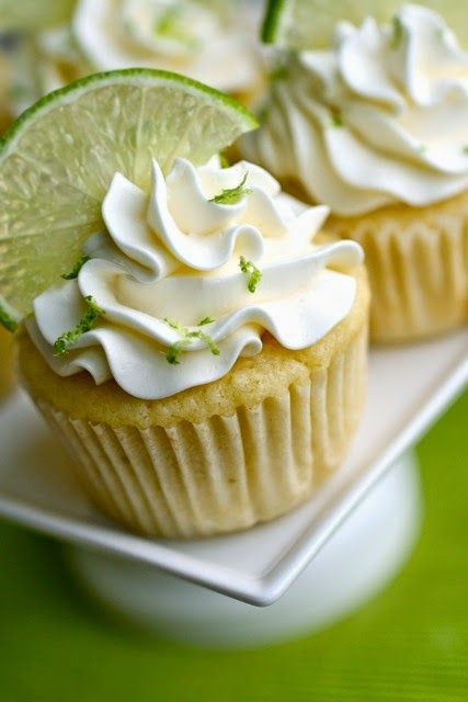 Delicious Food ~ Margarita Wedding Cupcakes {with Tequila Lime Buttercream} ... #dessert #recipe
