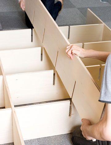 壁一面の本棚の作り方/Shelf/マルゲリータ