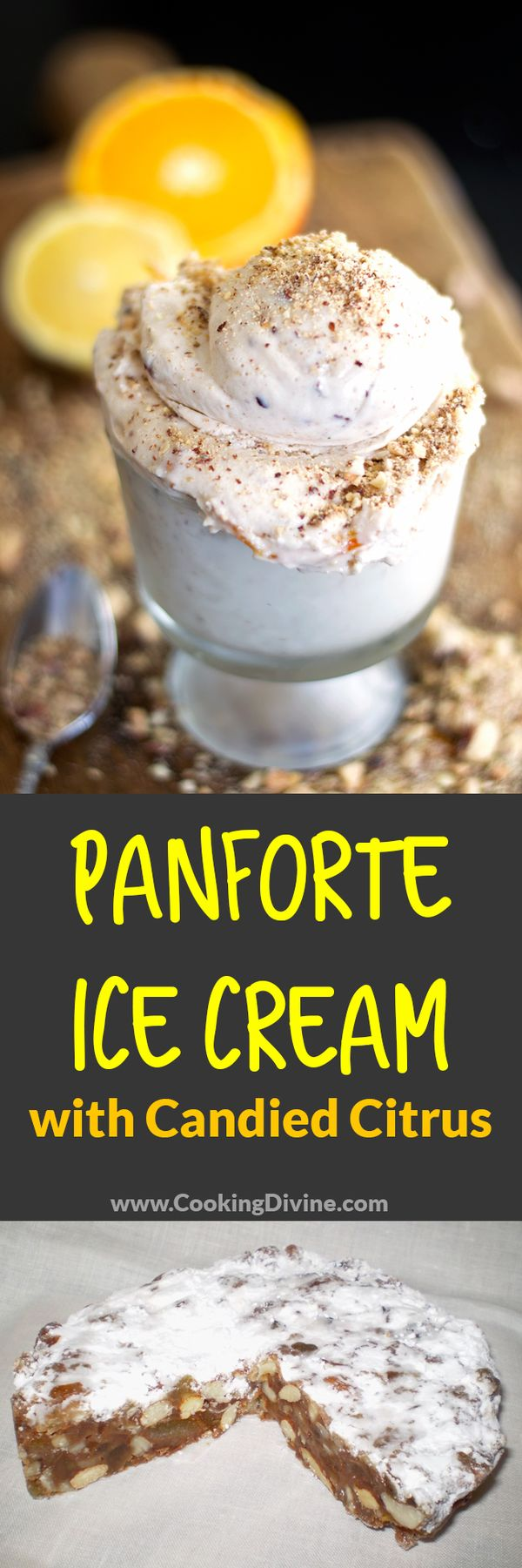 Panforte Ice Cream Recipe: This ice cream mimics the traditional Italian Dessert cake and is guaranteed to blow your guests away!