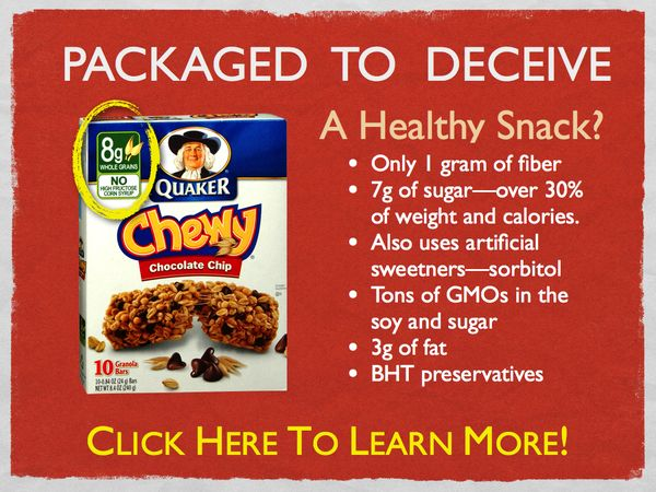 Quaker Chewy Granola bars practice what's called Leanwashing! It's wrong to deceive us and… Image