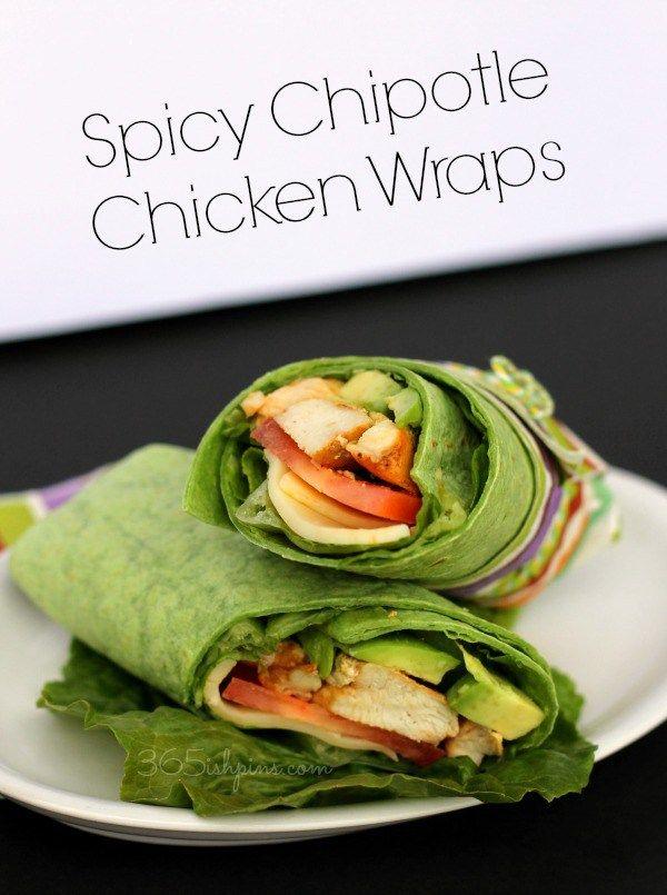 Spicy Chipotle Chicken Wraps - 365ish Days of Pinterest