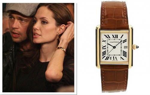 Angelina Jolie & Tank Louis Cartier. - Interwatches.com News