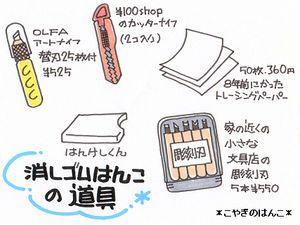 ○消しゴムはんこの道具