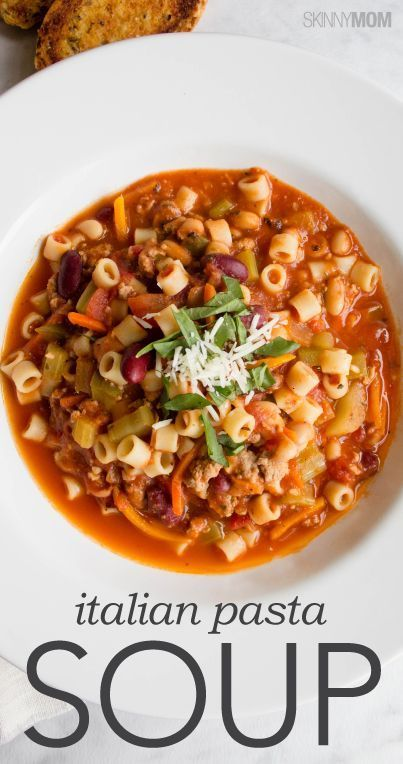 You have to try this Italian pasta soup recipe!