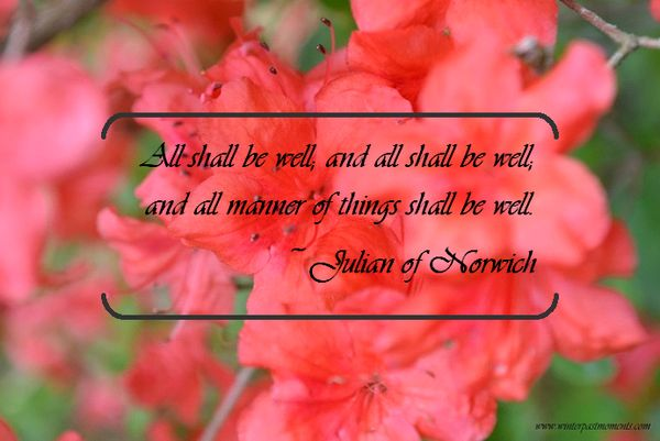 all shall be well -
