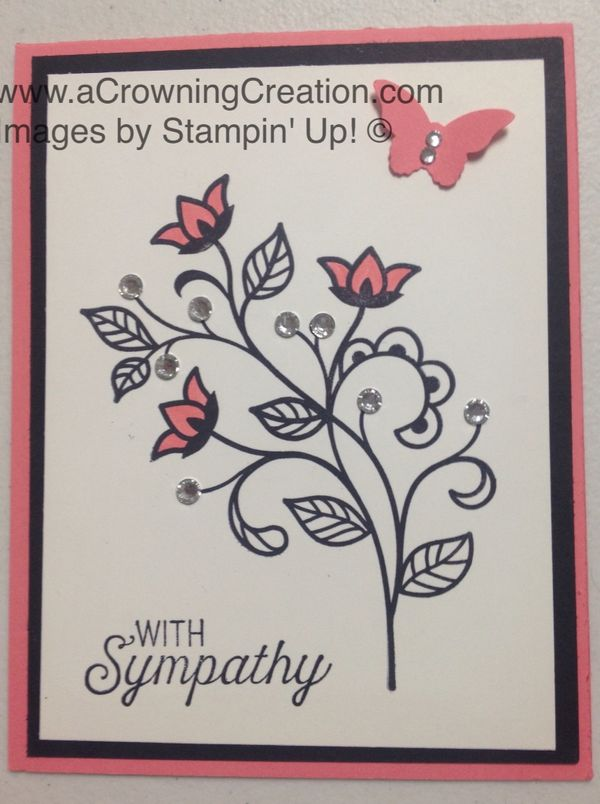 On pinterest stampin up raspberry ripple and sympathy cards